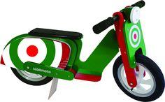 Green Target Scooter Balance Bike For Kids from Kiddimoto