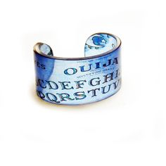 Cuff Ouija Resin Graphic Cuff. Resin Bangle. Resin by BuyMyCrap, $40.00