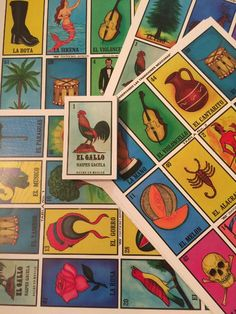 Authentic Loteria Mexican Bingo Jumbo - 9 Very Large Boards, Deck OF Cards Fun And Educational