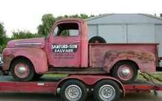 The original Sanford and Son truck. I love this show,me and my dad would watch it any time it came on! Vintage Pickup Trucks, Old Ford Trucks, Old Pickup, Classic Trucks, Classic Cars, Sanford And Son, Cool Trucks, Hot Cars, Cars Motorcycles