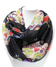 Look at this Black Sugar Skull Infinity Scarf on #zulily today!