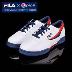 [Fila x Pepsi] Limited Original Classic Retro Casual Shoes All Unisex Size White #Fila #CasualShoes