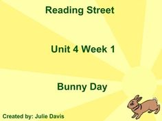 Bunny Day SmartBoard Companion Reading Street Kindergarten. Check out my other products for more Reading Street Companions! ~ Julie Davis