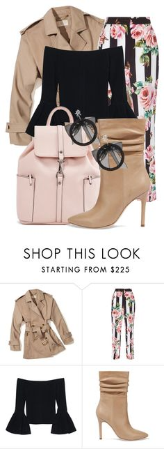 """Untitled #59"" by carolinemariejacobi ❤ liked on Polyvore featuring MICHAEL Michael Kors, Dolce&Gabbana, Alexis, Halston Heritage and Fallon"