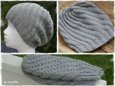G-Anette's Kreativiteter: Snurrelue med oppskrift Easy Yarn Crafts, Diy And Crafts, Easy Knitting, Knitting Patterns, Knit Crochet, Crochet Hats, Hobbies To Try, Slouchy Hat, Diy Projects To Try