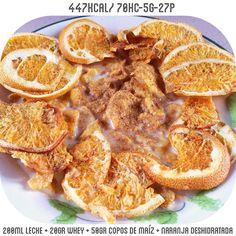 Hora de merendar  no está mal el snack de naranja