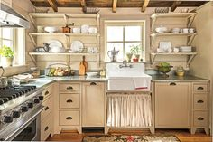 15 Ways with Shiplap: Shiplap in a Cabin Kitchen
