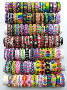 Pick 5 Rainbow Loom Bracelets out of 92 different Bracelets in Other | eBay