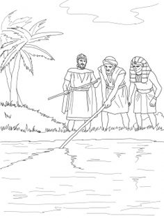 Moses: Plague of Blood Coloring page Bible Activities For Kids, Bible Stories For Kids, Sunday School Activities, Bible Lessons For Kids, Sunday School Crafts, Moses Bible Crafts, Bible Story Crafts, Plagues Of Egypt, 10 Plagues