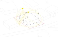 Sun diagram- planning the natural path of light across the Garden Home designed by KoDA Miami #planning #architecture