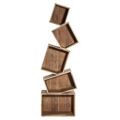 Cube Balance Shelving Unit, Natural
