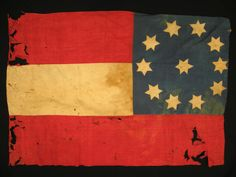 The only flag known to exist from the Second Georgia Infantry Regiment of the Confederate Army, made in 1861 ~ Richard Hatch Assoc. Auctions