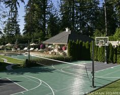 Home Gym Design, Pictures, Remodel, Decor and Ideas - page 6  love the tennis/vball standards