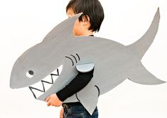 Shark DIY Halloween Costume | Your son will love this scary shark costume for Halloween!