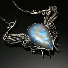 ELHETRIUM - silver and moonstone by LUNARIEEN.deviantart.com on @DeviantArt