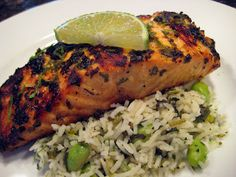 Cilantro Lime Salmon - #grill #salmon #lime #cilantro