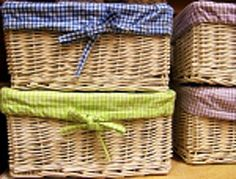 I love these baskets! A great storage place for your past journals. Don't you agree?