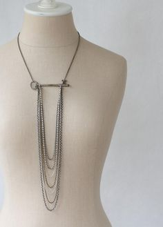 Downpour  Vintage Skeleton Key and Chain Cascade by prairieoats, $110.00