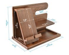 Soporte de madera para teléfono móvil organizador de escritorio de roble soporte para tableta llave moneda soporte para reloj hecho a mano regalo de graduación para hombres aniversario de marido: Amazon.es: Electrónica Wooden Phone Holder, Wood Phone Stand, Phone Stand For Desk, Cell Phone Holder, Key Holder Wallet, Gifts For Husband, Husband Wife, Small Wood Projects, Woodworking Projects Diy