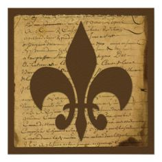 This beautiful and elegant vintage design, called Vintage Fleur De Lis Love Letter Wedding, has a beautiful classic design with a modern feel. #Vintage #Wedding #Invitations