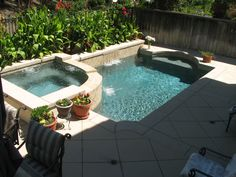 Integrates well with patio...Small Pool Designs | Small Backyards | Pacific Paradise Pools