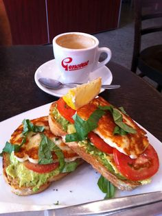 Haloumi sandwich....