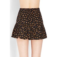 Forever 21 Women's  Ditsy Floral Ruffle Skirt ($14) ❤ liked on Polyvore featuring skirts, mini skirts, floral skirt, forever 21, lydia martin, teen wolf exact, short skirts, flounce hem skirt, short mini skirts and rayon skirt