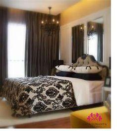 Bedroom Ideas Damask black and cream damask bedding | master with damask - bedroom