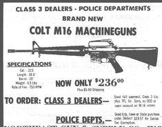 The NFA and Hughes Amendment Strike Again Man Cave Gifts, Fire Powers, Military Guns, Gun Control, Hunting Guns, Guns And Ammo, School Days, Vintage Ads, Firearms