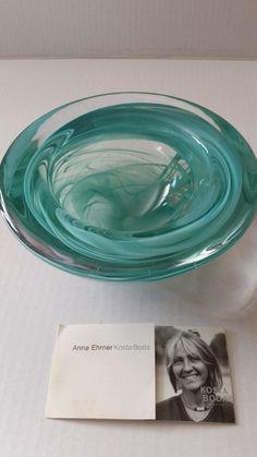 "Kosta Boda Sweden Atoll Jade Blue Green Swirled 7"" Art Glass Bowl | Pottery & Glass, Glass, Art Glass | eBay!"