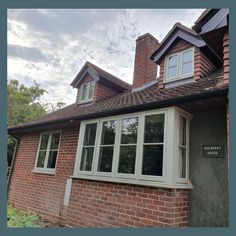 Replace your old timber windows with modern flush timber windows - bringing warm. - Before After DIY Wooden Sash Windows, Grey Windows, Timber Windows, Casement Windows, Grey Window Frames, Rendered Houses, Bourton On The Water, Traditional Windows, Window Styles