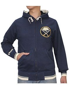 NHL Mens BUFFALO SABRES Athletic ZipUp Warm Hoodie  Jacket S Dark Blue -- Check out the image by visiting the link.(This is an Amazon affiliate link)