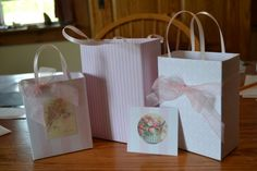 Unique elegant Shabby Chic party/gift  bag by steppnout on Etsy, $8.00