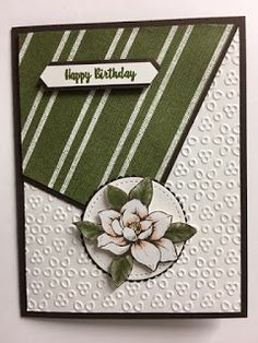 My Creative Corner!: Wonderful Moments, Magnolia Lane, Birthday Card, Stampin' Up! Homemade Birthday Cards, Homemade Cards, Stamping Up Cards, Rubber Stamping, Magnolia Stamps, Scrapbook Cards, Scrapbooking, Paper Cards, Cool Cards