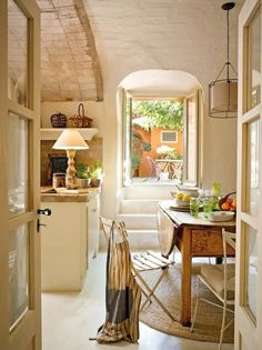 summer kitchen.