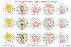Girly Circus ~ FREE Digital Bottle Cap Images!! https://www.facebook.com/thetrendyowlUS http://www.thetrendyowl.com