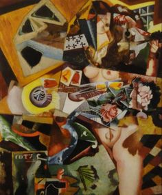 Amadeo de Souza Cardoso Coty ca. 1917 oil on canvas with collage 94 x 76 cm Art Du Collage, Blog Art, Digital Art Photography, Painting People, Oil Painting Reproductions, Paint Designs, Abstract Expressionism, Art History, Les Oeuvres