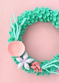 DIY: 'Little Mermaid' macaroni wreath