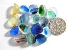 16-Multi-XS-S-Banded-Spot-Bright-Crisp-0-5oz-JQ-RARE-Genuine-English-Sea-Glass