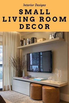 Interior Decorating Ideas For a Small Living Room. Take a look at the accessories that you have in your small living room. If you have too many home décor accessories in a small room, they actually break up space--so less is better. #livingroomdesignssmallspaces #livingroomdesignsmodern #livingroomdesigns livingroomdecor #livingroomdesignsgray #livingroomdecorapartment Living Room Decor Inspiration, Interior Design Inspiration, Home Interior Design, Interior Decorating, Decorating Ideas, Small Space Living, Small Rooms, Modern Architecture Design, Home Decor Accessories
