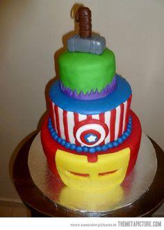 Thor, Hulk, Captain America and Iron Man — not bad!