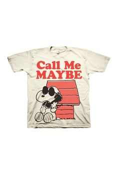 Snoopy Call Me Maybe Tee.