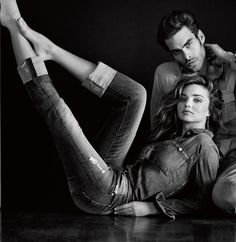 Miranda Kerr & Jon Kortajarena - 7 For All Mankind Fall/Winter 2014, campaign