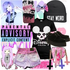 """Pastel goth"" by bulletproof-07 on Polyvore"