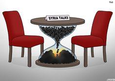 Peace seems a long, long way off in #Syria. Today's cartoon by Tjeerd Royaards: http://www.cartoonmovement.com/cartoon/33577
