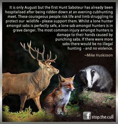 The truth about hunt sabs.