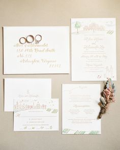 Invitaciones de boda en color blanco