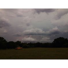 Lightening in the distant clouds of Bosque county TX
