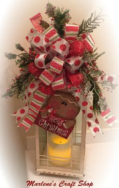 Botín de linterna de pan de jengibre Gingerbread árbol topper