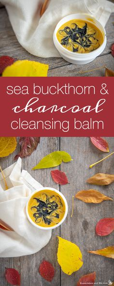 Sea Buckthorn and Charcoal Cleansing Balm - Humblebee & Me Homemade Skin Care, Homemade Beauty Products, Lobster Restaurant, Diy Beauty Projects, Soap Making Recipes, Natural Healing, Natural Skin, Natural Beauty
